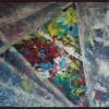 Nu zien wij nog door een Sluier, acryl 80 x 120 cm, particulier bezit
