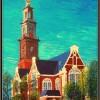 Westerkerk Amsterdam, olieverf 60 x 80 cm, particulier bezit