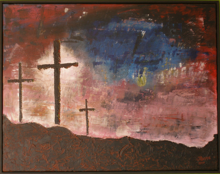 Golgotha, acryl 70 x 90 cm, € 469,-